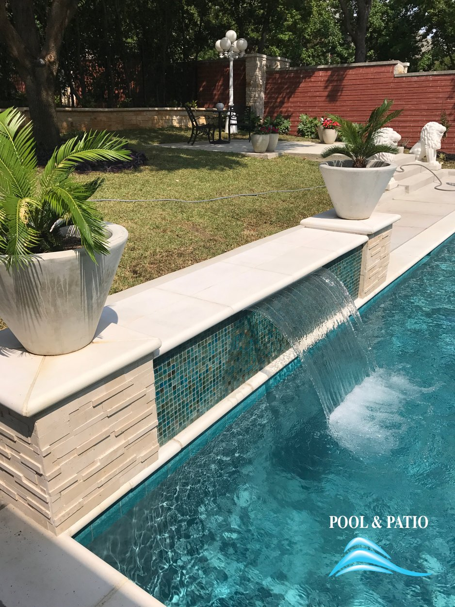 ... Custom Feature #032 By Pool And Patio ...